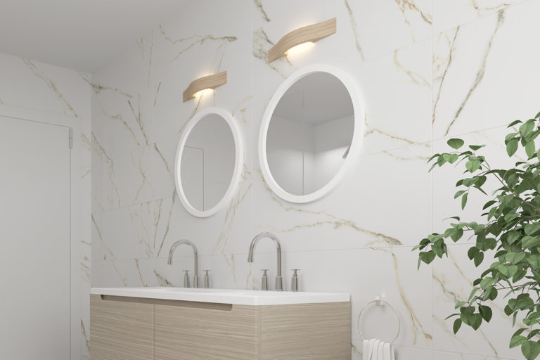 Timeless classic elegance with the CALACATTA GOLD ceramic series