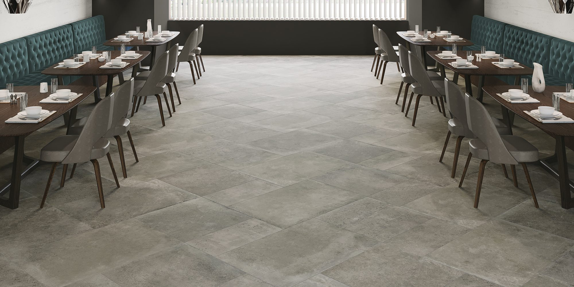 Salón Tectonic Grey 30x60, Tectonic Grey 60x60 y Tectonic Grey 60x90
